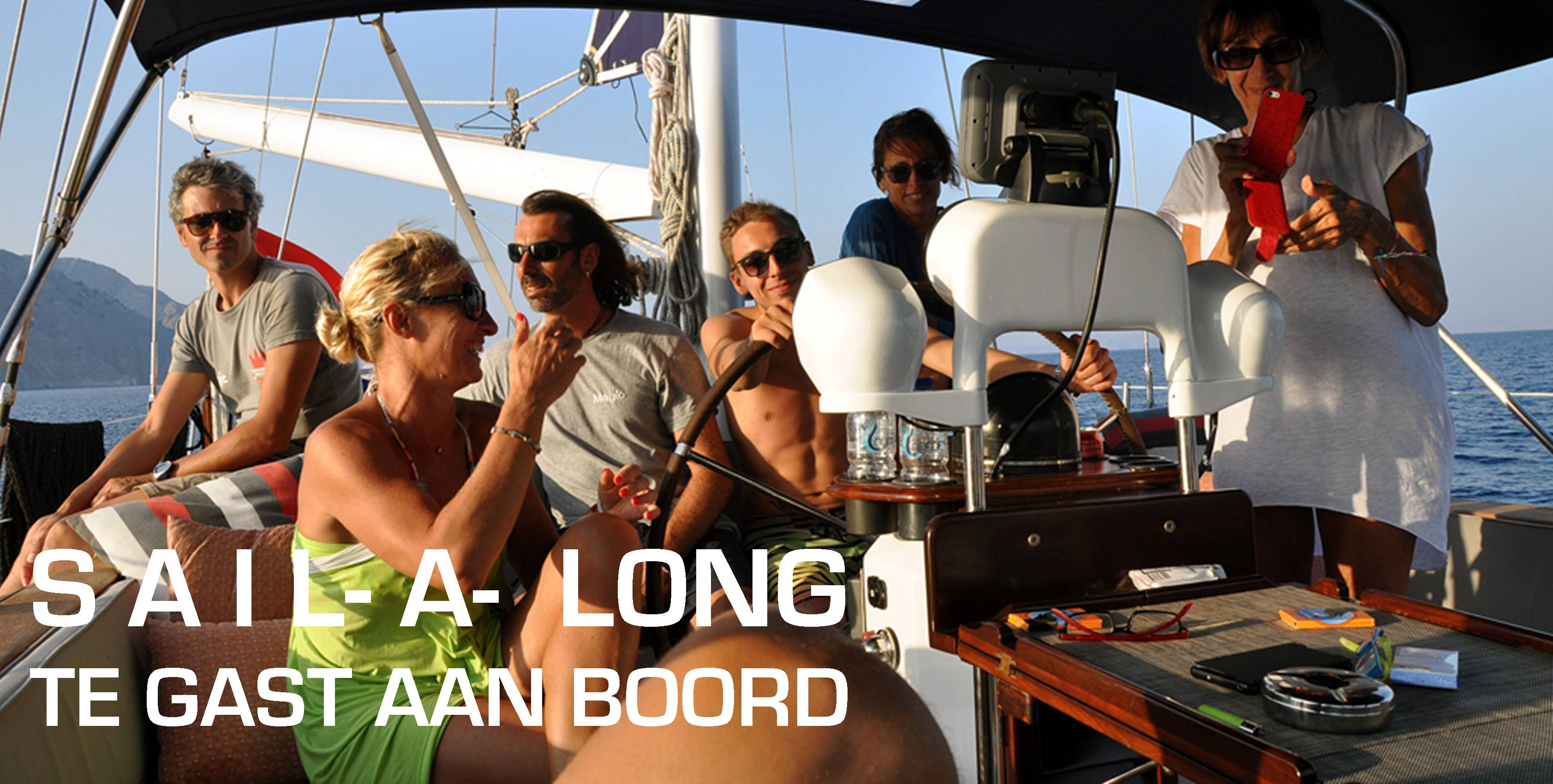 Meezeilvakantie - te gast aan boord | Sail-a-long holiday - guest on board | Sail in Greece Rhodes | sail-in-greece.net